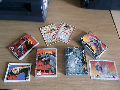 Collection of UK and Australia Jurassic Park trading cards