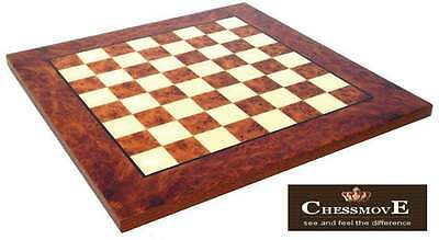 Chessmove Exclusive Elm Boards with 40mm Squares
