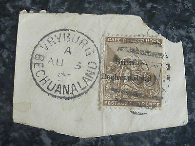 Bechuanaland Cape Of Good Hope Postage Stamp Sg6 Fine Used Oval 555 Vertical Can