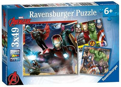 Ravensburger 08017 The Avengers 3 x 49 Piece Childrens Jigsaw Puzzles - Multi