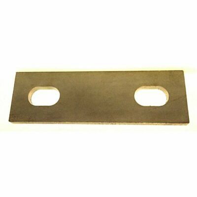 41-58 mm ID Slotted backing plate for M10 U-bolt Galvanised Mild Steel