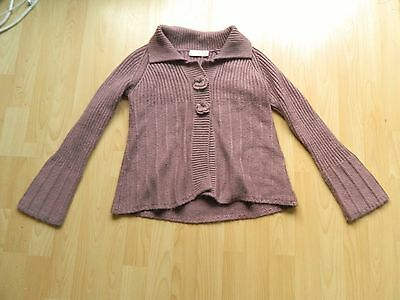 NEXT sp GIRLS 11-12 YEARS MAUVE KNITTED CARDIGAN