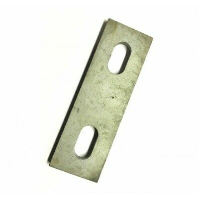 Slotted backing plate for M12 U-bolt (76 - 106 mm ID) Galvanised Mild Steel