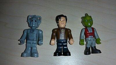 Character Building Doctor Who 3 x Figures - Series 1