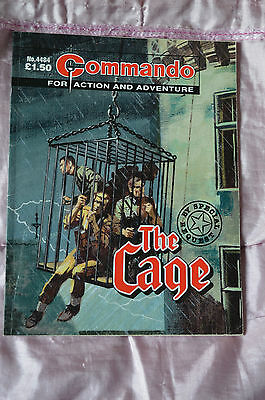 THE CAGE No 4484 -  COMMANDO COMIC WAR STORIES IN PICTURES