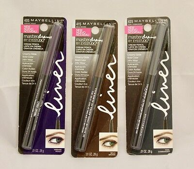 Maybelline Master Drama Cream Pencil Black Brown Purple Choose Shade/quantities