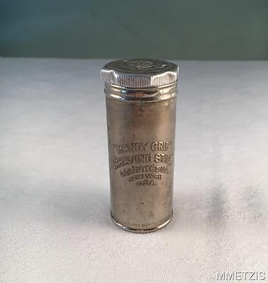 "Antique 1917 Colgate & Co. ""handy Grip"" Shaving Stick Tin New York Made In U.s.a"