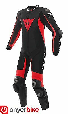 Dainese D-Air Racing Misano Suit One 1 Piece Leather Motorcycle Motorbike Airbag