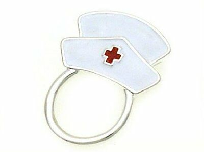 Magnetic Eyeglass Holder Clip White Nurse's Hat