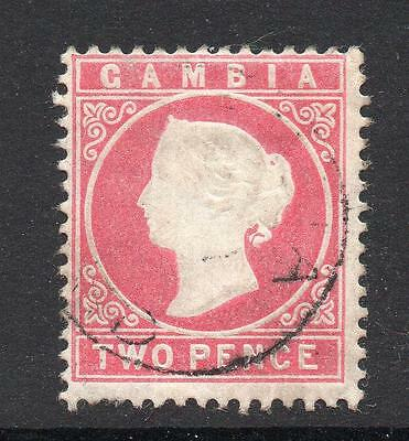 Gambia 2 Pence Stamp c1880-81 Used (wmk upright)