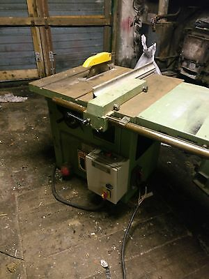 Wadkin Ags 250 Circular Saw Bench, Dc Brake, Extended Table