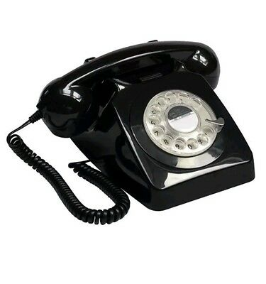 GPO 746 Rotary Telephone - Black BRAND NEW COLLECTORS ITEM COLLECTIBLE GIFT