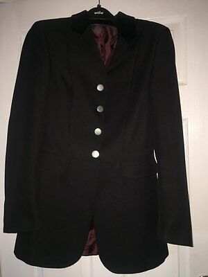 Ladies Tagg black showjumping Competition jacket size 34