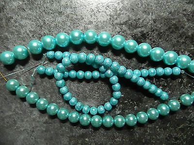 Light turquoise beads
