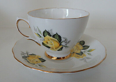 COLCLOUGH CUP & SAUCER SET YELLOW ROSE PATTERN 7984 set #85