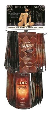 Synergy Tan Rotating Sachet Display Deal sunbed tanning lotion cream