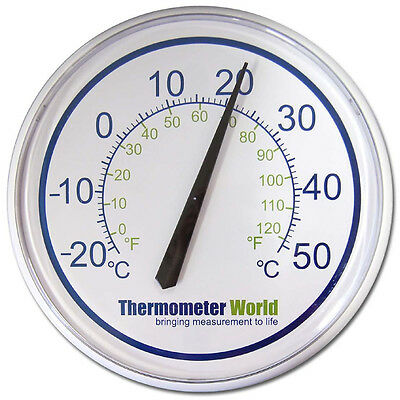 Large Garden Thermometer Wall Patio Outdoor Indoor Greenhouse Office - In-036