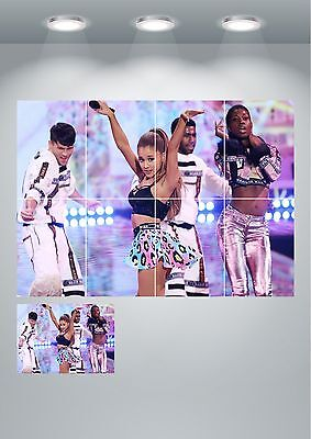 Ariana Grande Singer Large Wall Art Poster Print A3/A4 Sections or Giant 1 Piece