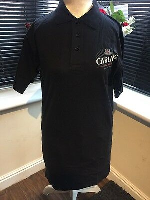 Carling Lager Black Polo Shirt  size medium home bar man cave