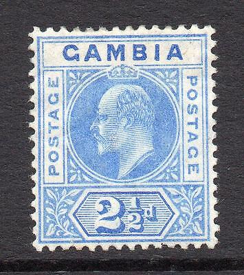Gambia 2 1/2d Stamp c1904-06 Mounted Mint (2)