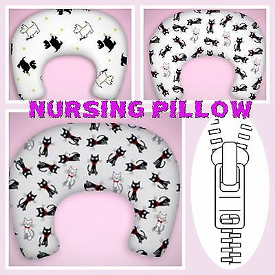 New Breast Feeding Maternity Nursing Baby Support Pillow  With Zipped Cover