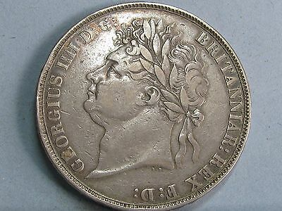 George Iv Silver Crown Coin  Dated 1822