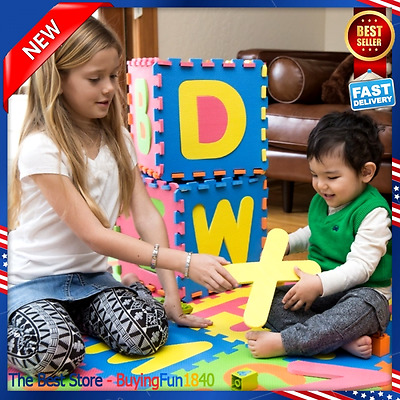 Kid Foam Learning Alphabet Letters Puzzle ABC Floor Play Mats Tiles Exercise NEW