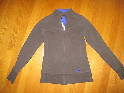 Ladies The North Face Gray Blue Accents Full Zip Sweatshirt Jacket Size XS