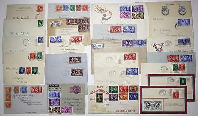 GB GVI, EDVIII First Day Covers. Illustrated & Non Illustrated. 1936 - 1951