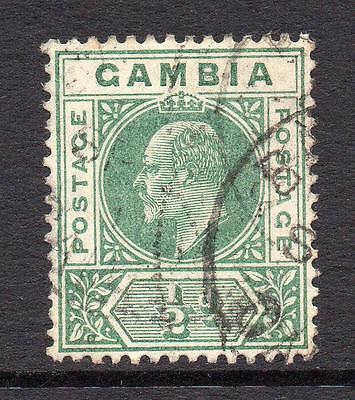 Gambia 1/2d Stamp c1909 Used