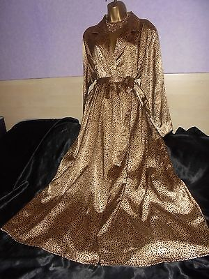 Stunning vtg M/S  Glossy  silky satin  nightie dress slip  gown negligee  20