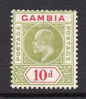 Gambia 10d Stamp c1909 Mounted Mint