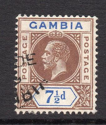 Gambia 7 1/2d Stamp c1912-22 Used