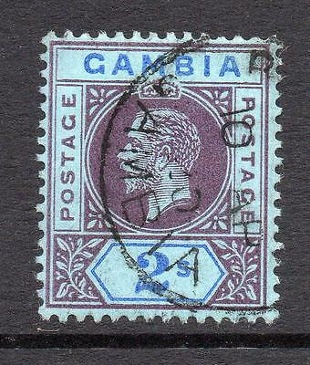 Gambia 2/- Stamp c1912-22 Used