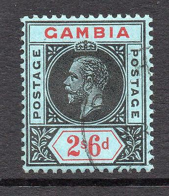 Gambia 2/6 Stamp c1912-22 Used