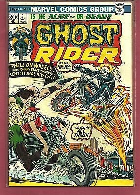 GHOST RIDER # 3 1973 1ST FIRE CYCLE,SON OF sATAN HIGH GRADE FINE / VF
