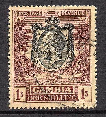 Gambia 1/- Stamp c1922-29 Used