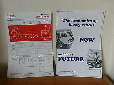Foden 24 ton truck mixer specs and quote c 1971