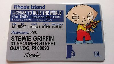 Stewie Griffin - Family Guy ID Card - Novelty