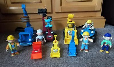 Bob The Builder  Bundle With 7 Vehicles, 5 Figures And Pilchard The Cat