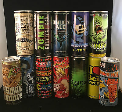 Energy Drink Collection - USA - Gaming - Tv - Pacman - Simpsons - Romulan Ale