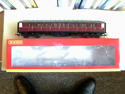 Hornby 00 R4568 BR Gresley Type 2nd Class Coach E12344E BR Maroon (Super Detail)