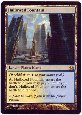 MTG 1x HALLOWED FOUNTAIN x1 EX Return to Ravnica Eng