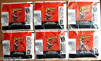 Topps Indiana Jones 6 wrapper lot 1984 Temple of Doom