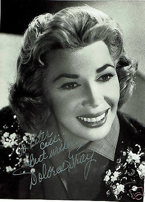 Dolores Gray Actress Hand Signed Photograph 8 x 6