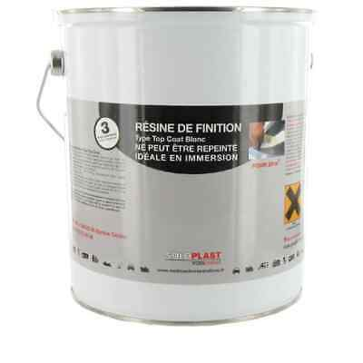 Résine de Finition Soloplast Type Top Coat Blanc 5 KG
