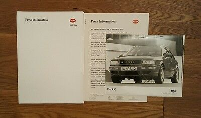 Audi British Motor Show 1993 Press Pack Featuring RS2 80 Cabriolet Coupe Quattro