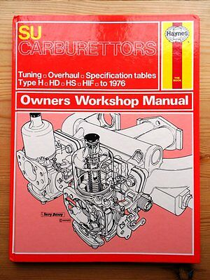 SU CARBURETTORS HAYNES MANUAL to 76: TYPE H HD HS HIF THERMO ~ 11 pics