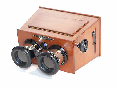 STEREOSCOPE Unis-France - 6x13cm stereo glass plates -Wooden french STEREOVIEWER