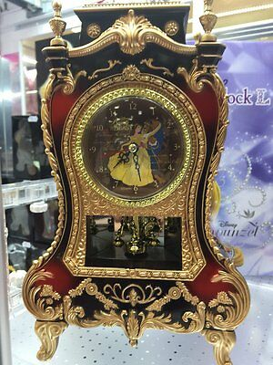 Disney princess Castle Clock Beauty and the Beast from Japan